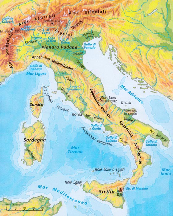 L italia e le sue regioni - Regioni italiane non bagnate dal mare ...